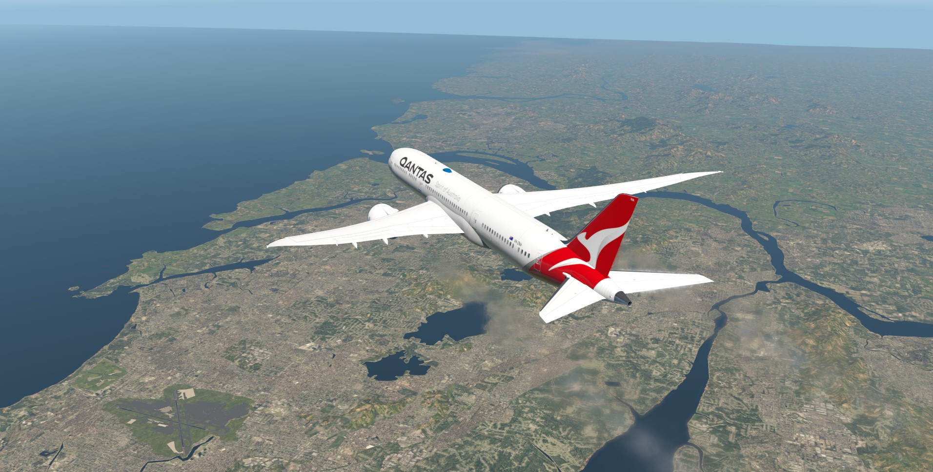 Enroute to London QF9